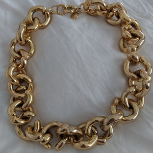 J Crew Chunky Gold Chain Necklace